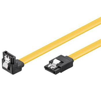 PremiumCord SATA 3.0 datový kabel, 6GBs, 90°, 0,5m - kfsa-15-05