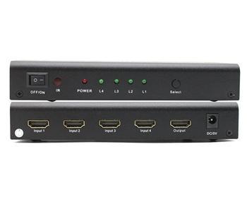 PremiumCord HDMI switch 4:1, kovový, dálkové ovl. - khswit41b