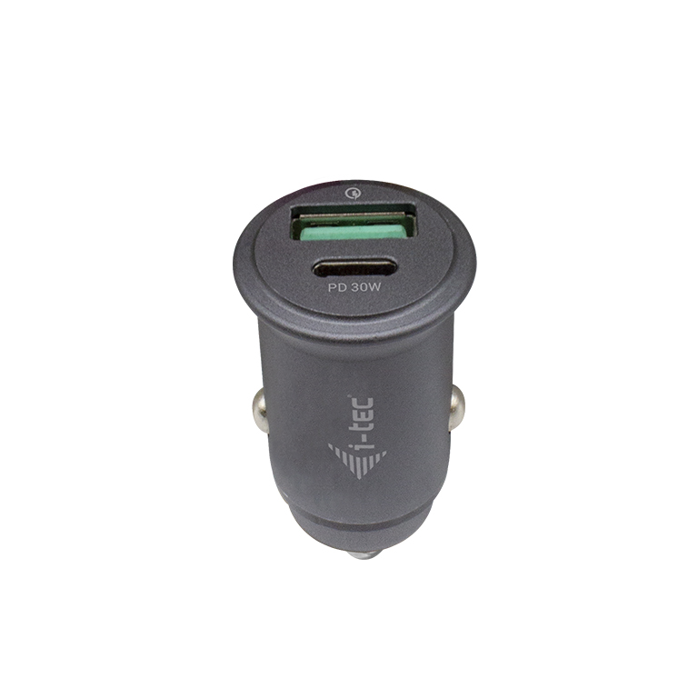 i-tec Car Charger 1x USB-C PD 30 W, 1x USB QC 3.0 - CHARGER-CARQCPD