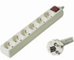 Prodlužovací přívod 230V, 2m, 6 zásuvek + vypínač