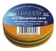 PremiumCord Izolační páska PVC 15/10 zelená/žlutá - zvpep07