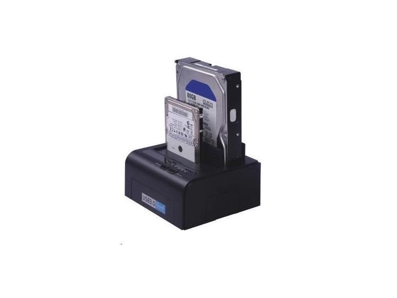PremiumCord USB3.0 HDD dokovací stanice pro dva 2.5''/3.5'' SATA HDD