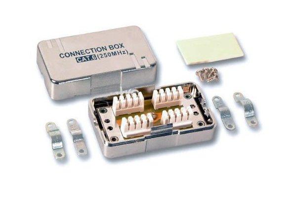 PremiumCord Propojovací box pro kabely Cat.6, narážecí, stíněný - srjbox-02