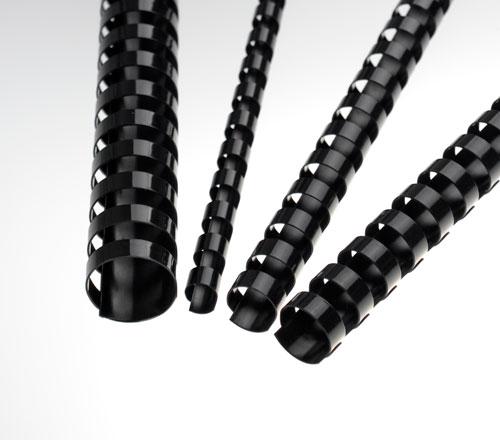 Plastové hřbety 8 mm, černé - LAMRE21DR08N