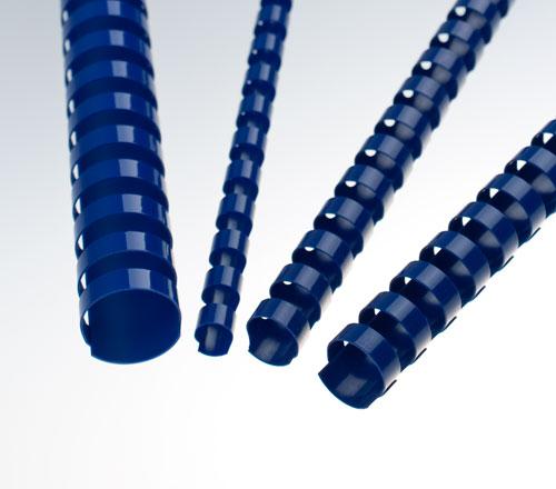 Plastové hřbety 12,5 mm, modré
