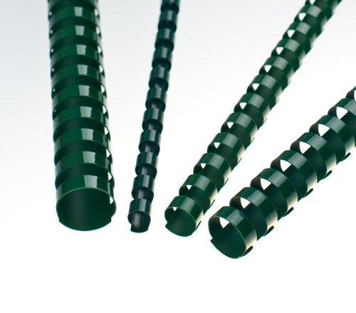 Plastové hřbety 10 mm, zelené