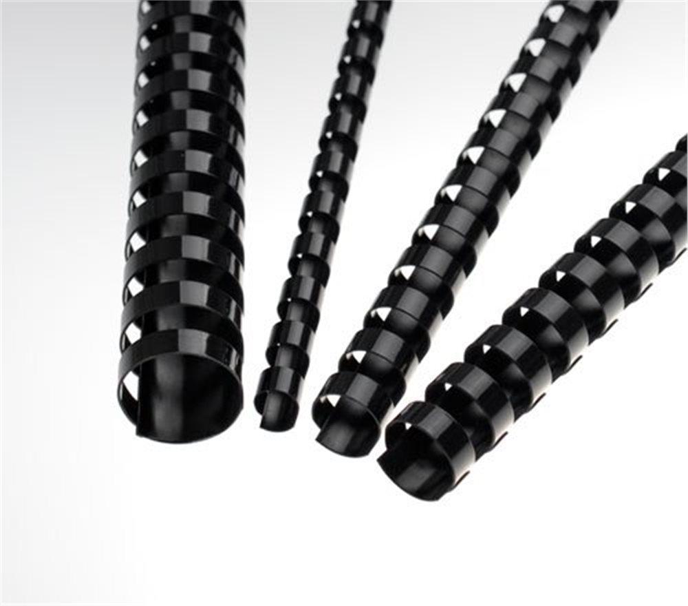Plastové hřbety 28,5 mm, černé