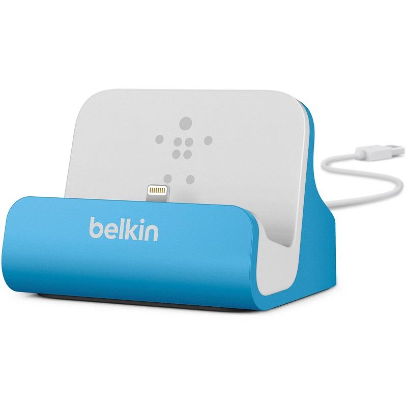 BELKIN Stolní dokovací stanice pro iPhone 5,5c,5s,6,6s, modrá