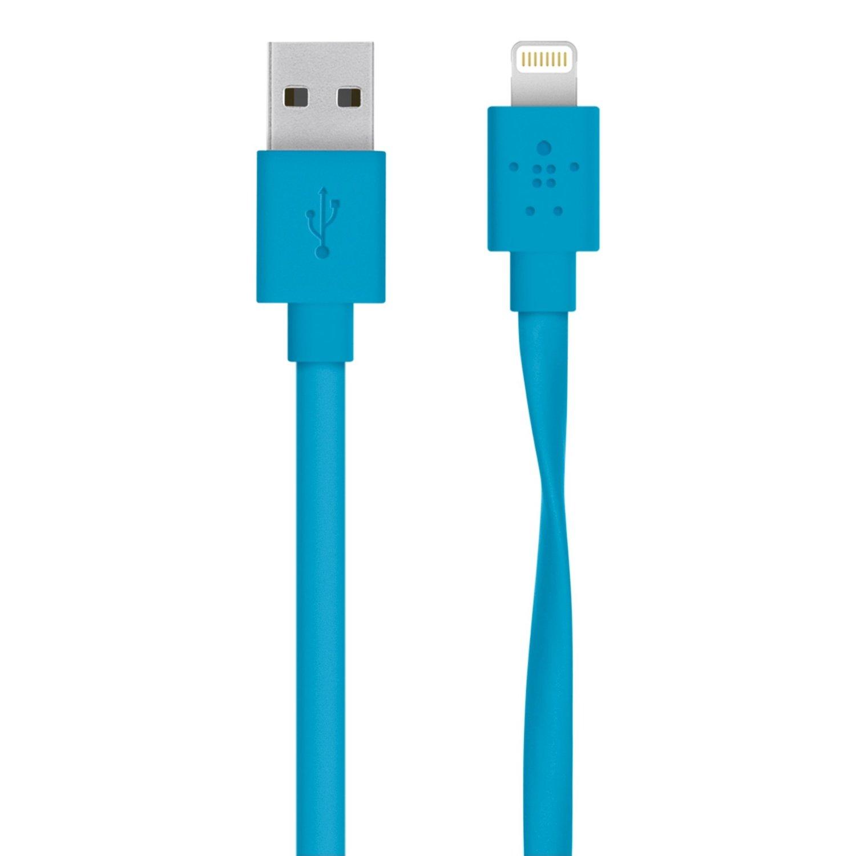 BELKIN MixIt Flat Lightning kabel, 1,2m, modrý