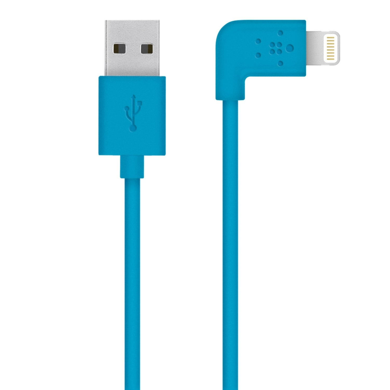 BELKIN MixIt 90° Lightning kabel, 1,2m, modrý