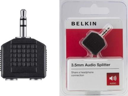 BELKIN Audio rozbočovač 3,5mm-M / 2x3,5mm-F