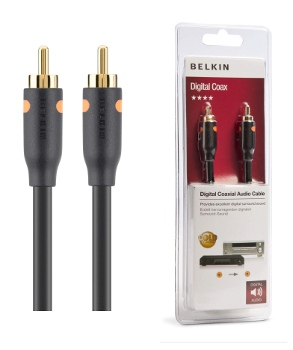 BELKIN Koaxiální digitální audio kabel RCA Gold,1m