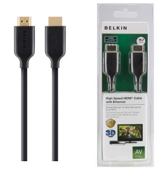 BELKIN HDMI - HDMI 1.4 AV kabel Gold, černý, 1 m