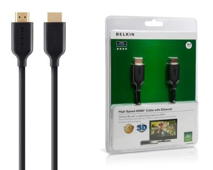 BELKIN HDMI - HDMI 1.4 AV kabel Gold, černý, 10 m