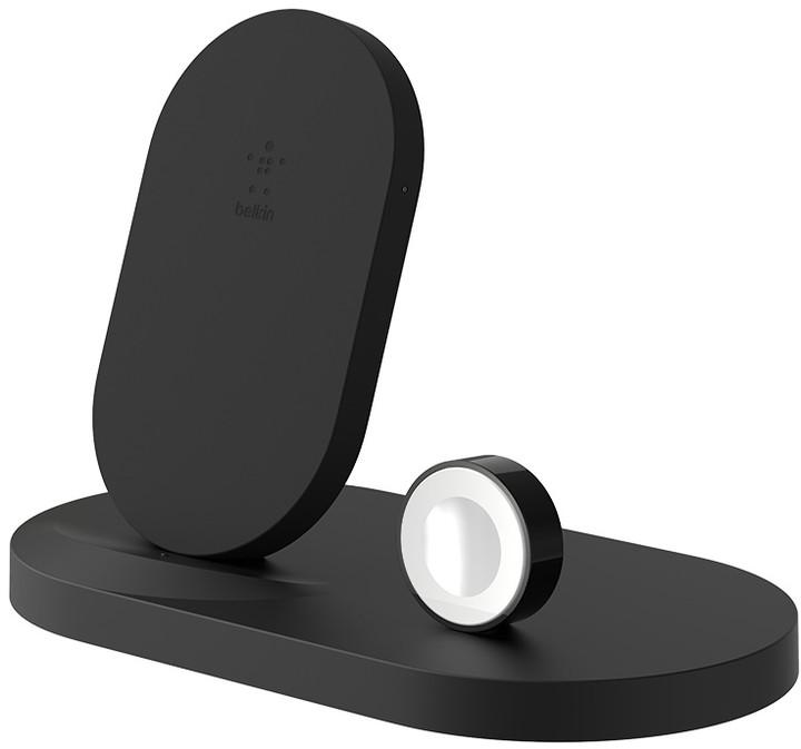 BELKIN bezdrátová QI nabíječka, 7.5W, pro Apple Watch/iPhone, s USB, černá - F8J235vfBLK