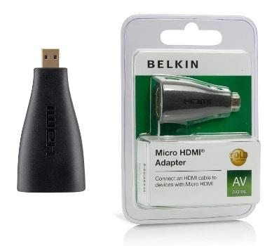 BELKIN HDMI - Micro HDMI redukce (F/M) Gold