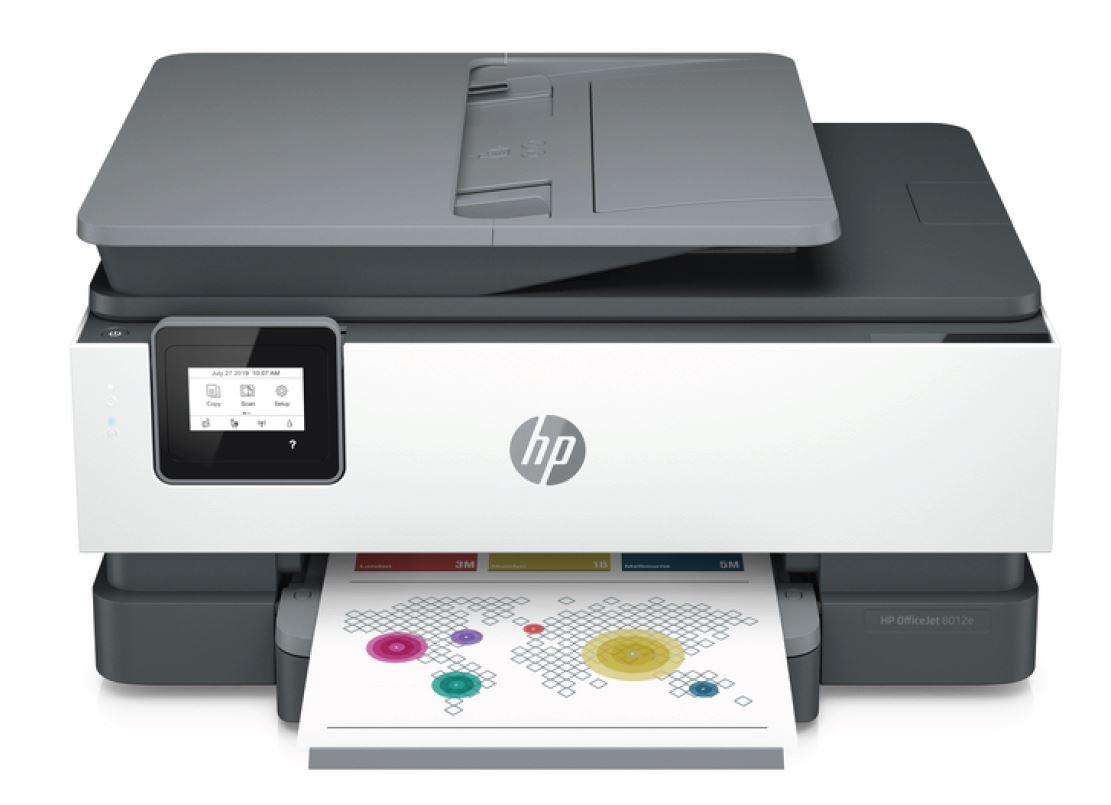 HP Officejet 8012e (HP Instant Ink), A4 tisk, sken, kopírování a fax. 18/10 ppm, wifi, duplex, ADF - 228F8B#686