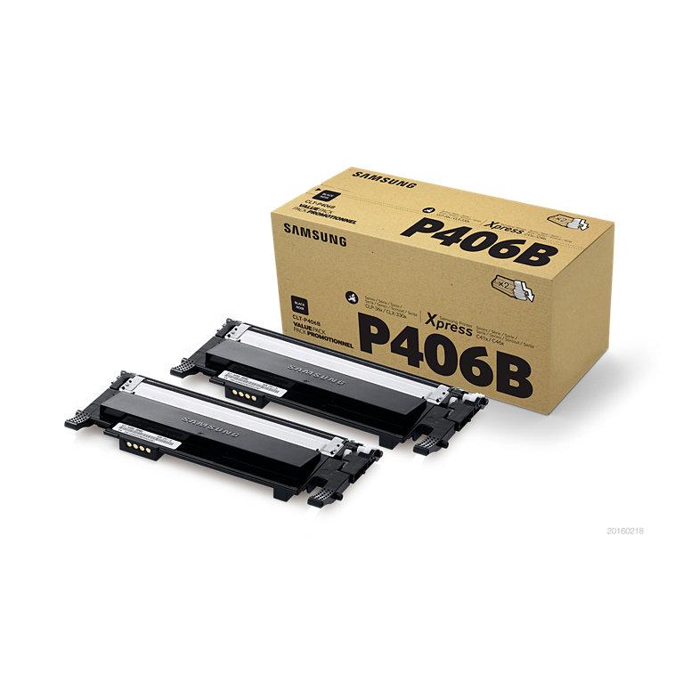 Samsung CLT-P406B/ELS Black Toner Twin Pack