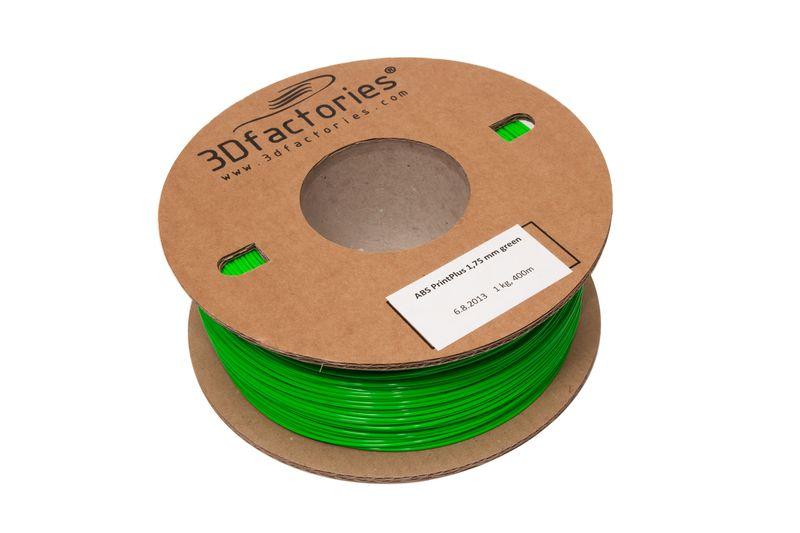 3D Factories tisková struna ABS zelená 1,75mm 1 Kg