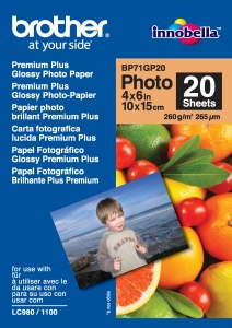 BP71GP20, 20 listů, 10x15cm Premium Glossy,260g