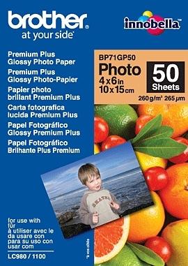 BP71GP50, 50 listů, 10x15cm Premium Glossy, 260g