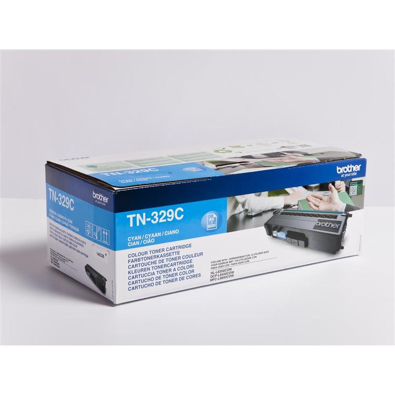 Brother TN-329C, toner cyan, 6 000 str.