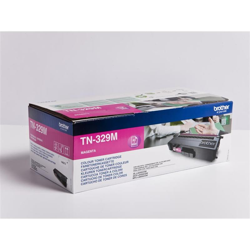 Brother TN-329M, toner magenta, 6 000 str.