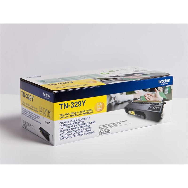 Brother TN-329Y, toner yellow, 6 000 str.