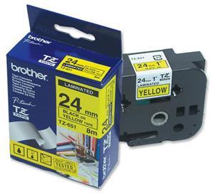TZE-651,  žlutá/černá, 24mm - TZE651