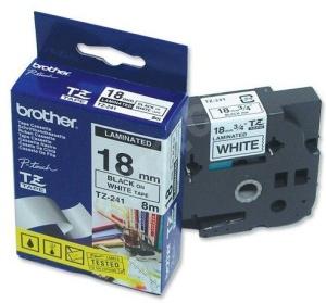 TZE-241,  bílá/černá, 18mm - TZE241