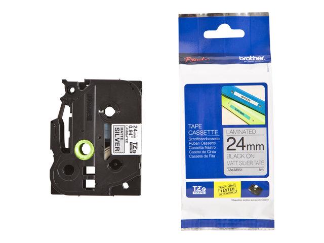 TZE-M951, černá / stříbrná, 24mm