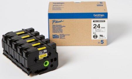 HGE-651V5, žlutá / černá, 24mm