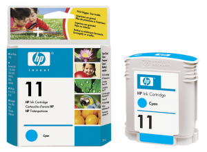HP no. 11 - azurová ink. kazeta, C4836A, cyan