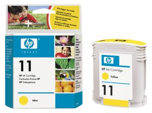 HP no. 11 - žlutá ink. kazeta, C4838A, yellow