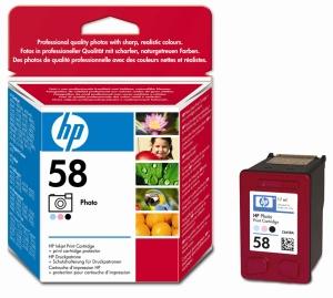 HP no. 58 - 3barevná foto ink. kazeta, C6658A