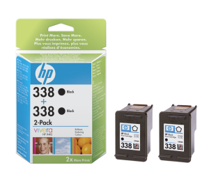 HP no. 338 - černá ink. kazeta, 2-pack , CB331EE