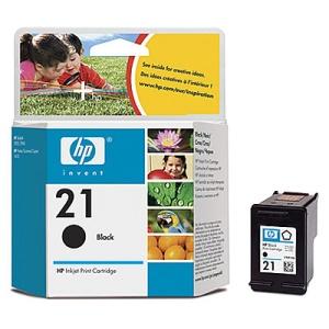 HP no. 21 - černá ink. kazeta, C9351AE