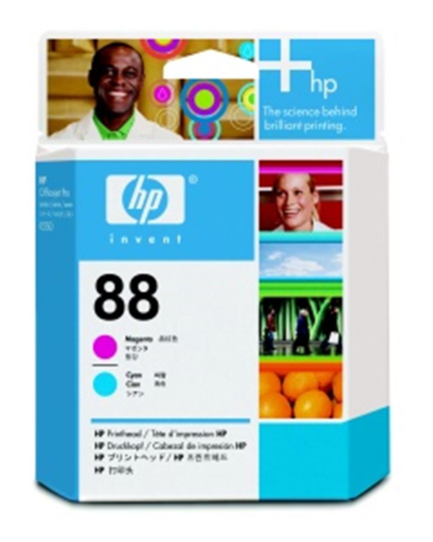 HP 88 - azurová a purpurová tisková hlava, C9382A