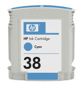 HP 38 - azurová ink. kazeta, C9415A