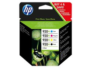HP 920 XL - Combo pack BK/C/M/Y