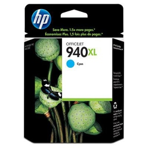 HP 940 XL - azurová inkoustová kazeta, C4907AE