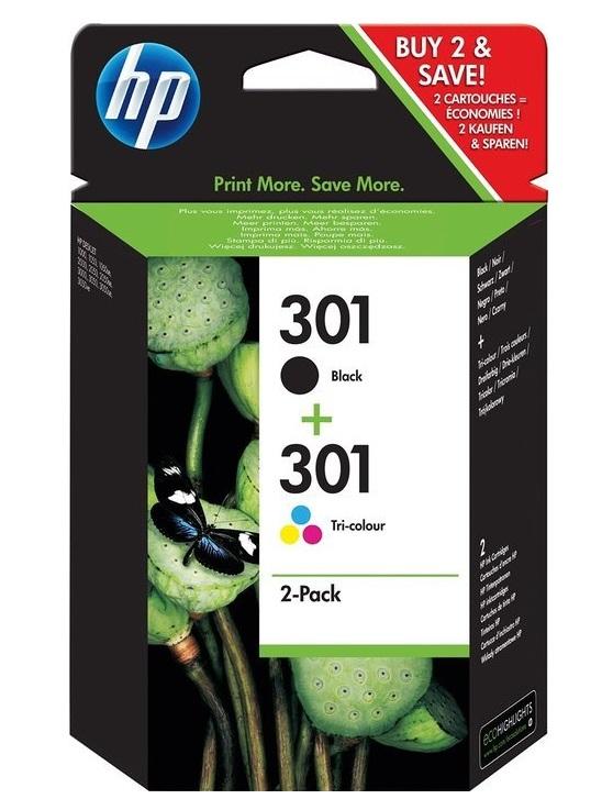 HP 301 combo pack ( černá, 3barená), N9J72AE