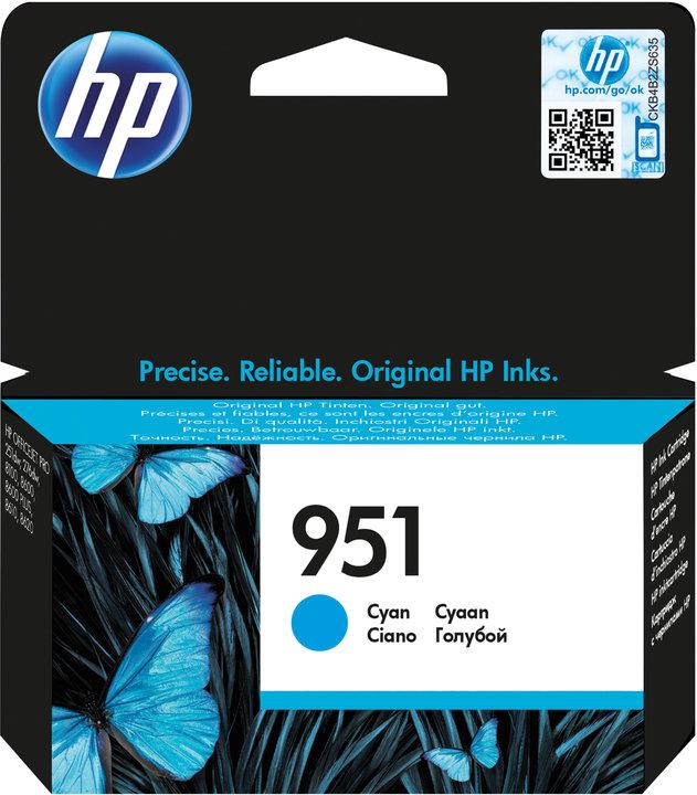 HP 951 azurová inkoustová kazeta, CN050AE