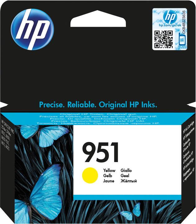 HP 951 žlutá inkoustová kazeta, CN052AE
