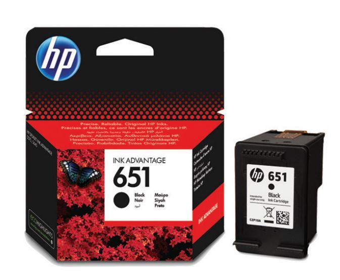 HP 651 černá ink kazeta, C2P10AE
