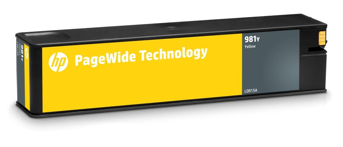 HP 981 - žlutá inkoustová kazeta, L0R15A