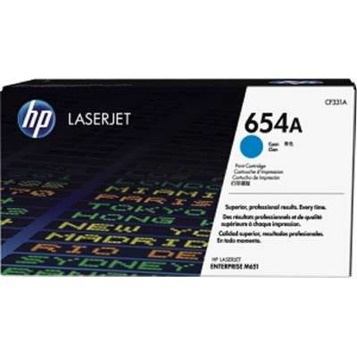 HP 654A Cyn Contract LJ Toner Cartridge