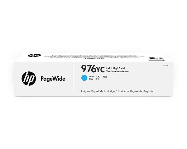 HP 976YC Cyan Contract PageWide Crtg