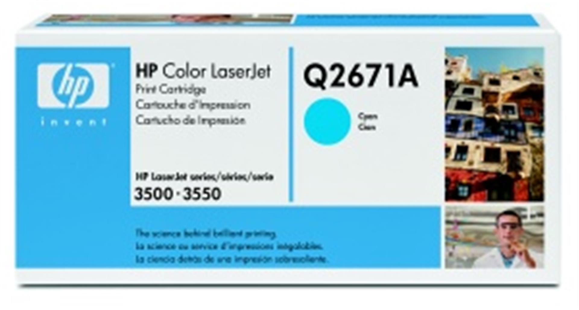 HP Color LaserJet azurový toner, Q2671A