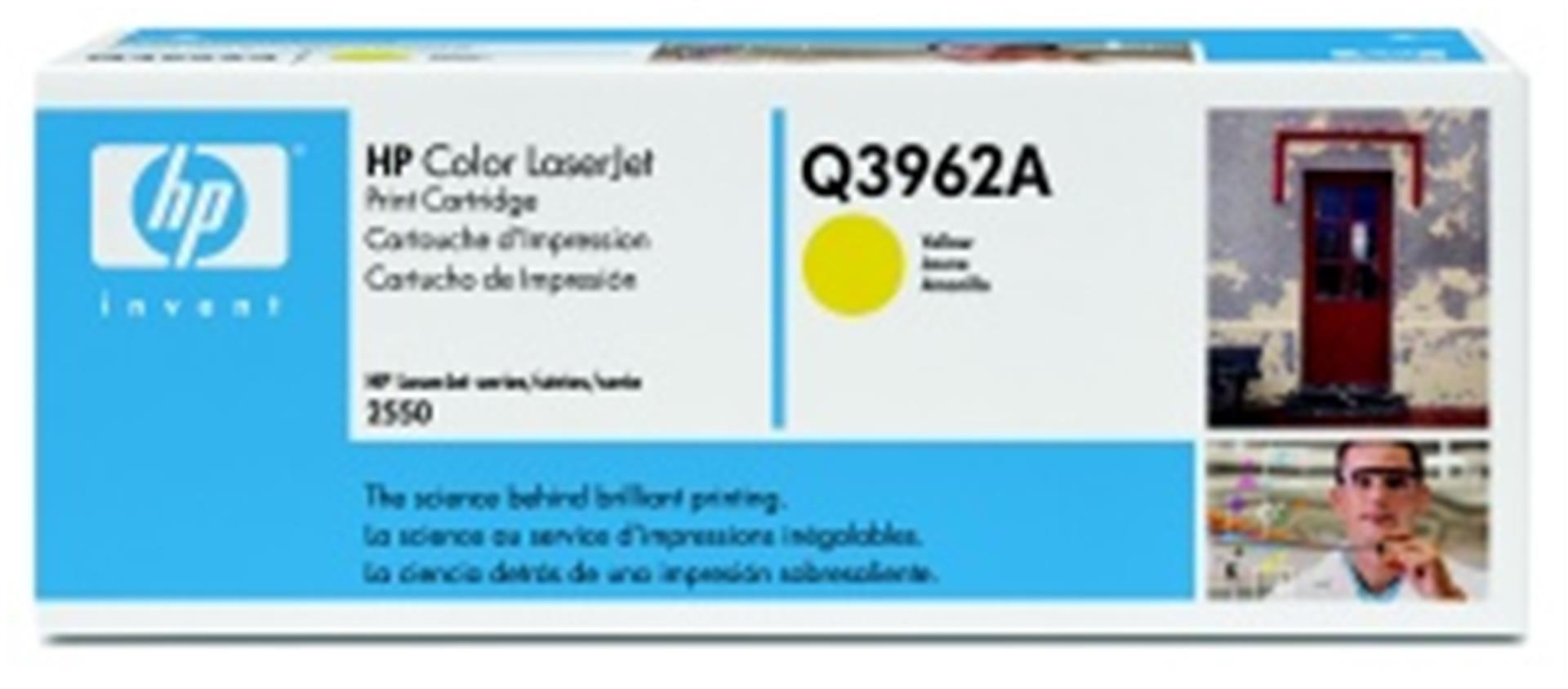 hp color laserjet žlutý toner, Q3962A
